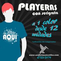 Playeras Con Serigrafía Desde 12 Unidades