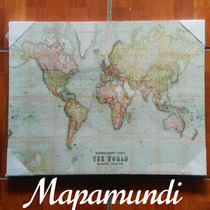 Lienzo Cartografico  Mapamundi.